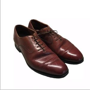 GRENSON Brown Leather Oxford Shoes Sz US 11 UK 10F